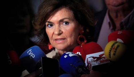La vicepresidenta del Govern central en funcions, Carmen Calvo.