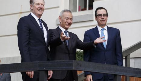 Els equips negociadors dels EUA i la Xina a l'última reunió.
