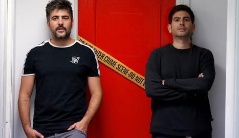 David i José Muñoz, Estopa, van presentar ahir el disc 'Fuego'.