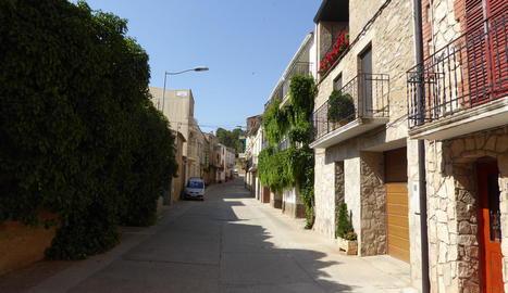 Un carrer d'Alcanó que es convertirà en escenari del joc.