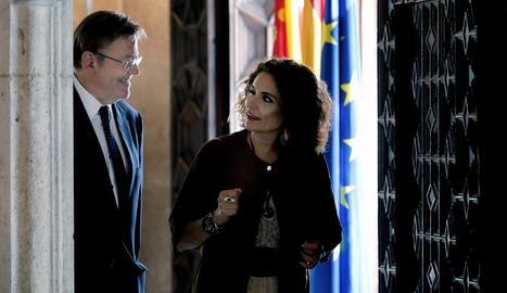 María Jesús Montero al costat del president valencià Ximo Puig.