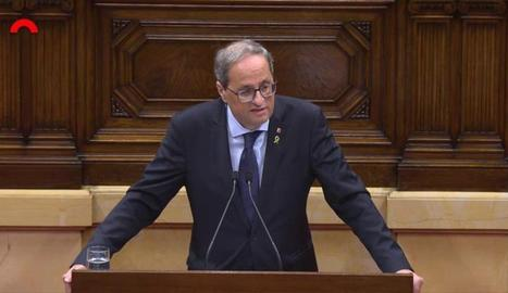 El president ha comparegut al Parlament per explicar la resposta institucional a la sentència de l'1-O