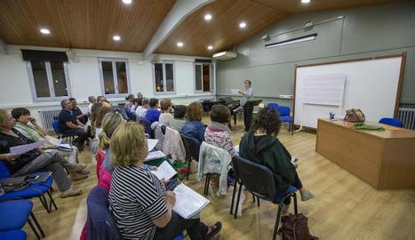 Una de les noves aules de l'Escola de Música de Guissona.