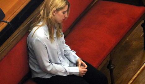 La dona condemnada per la mort de la seua nadó durant el judici.