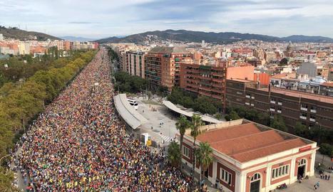 La columna de Sant Quirze a Barcelona.