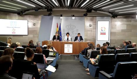 Roda de premsa posterior al Consell de Ministres.