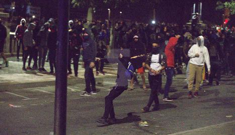 Noche de disturbios en Llleida