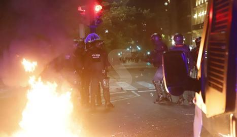 Disturbios en Lleida el 18-O