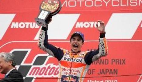 Marc Màrquez guanya al Japó i Àlex, sisè, podria ser campió del Món en Moto2 a Austràlia