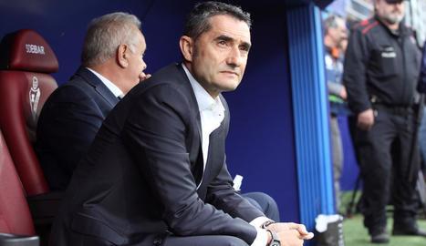 Ernesto Valverde, dissabte en el partit contra l'Eibar.