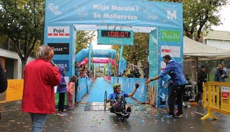 Un aspecte de la massiva participació a la Mitja Marató de Mollerussa.