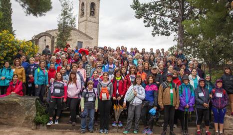 Foto de grup dels participants abans d'iniciar el recorregut.
