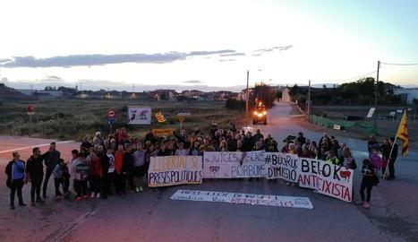 Els manifestants van tallar vint minuts l'N-II a Bell-lloc.