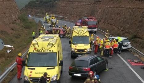 Una vista de l'accident.