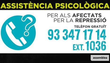 L'ANC activa un telèfon d'assistència psicològica per als
