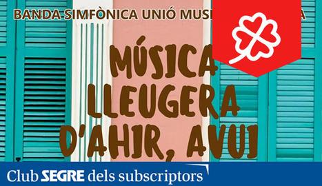 La Banda Simfònica Unió Musical de Lleida ens interpretarà cançons clàssiques de la música popular.