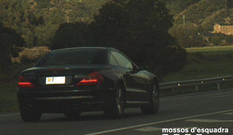 Els Mossos van immobilitzar el vehicle al ser caçat pel radar.