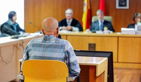 Pedro Luis Gallego durant el primer dia del judici.