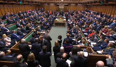 Imatge general del saló de plens del Parlament britànic.