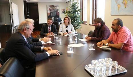 Reunió d'ahir entre Chacón i el Consell Català de l'Empresa.