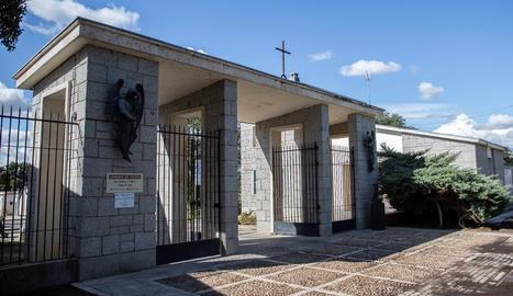 Vista del cementiri de Mingorrubio on traslladaran el cos del dictador.