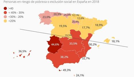 Las dos Españas de la pobreza