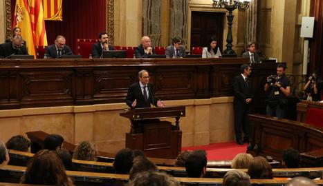 Imatge d'arxiu del Parlament de Catalunya.