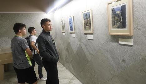 L'exposició d'aquarel·les de Sergio Callizo podrà veure's a la UdL fins al 12 de novembre.