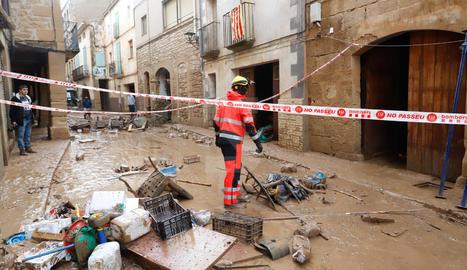 Imatges dels danys i desperfectes després del temporal a les comarques de Lleida