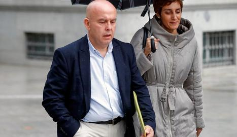 L'advocat Gonzalo Boye, a l'arribar ahir a l'Audiència Nacional.