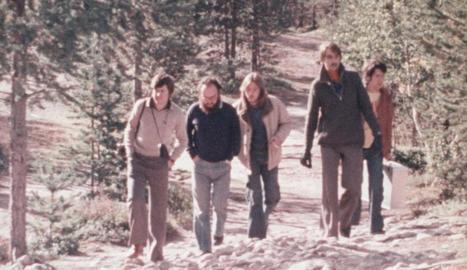 Els amics que van emprendre el viatge, el 1976.