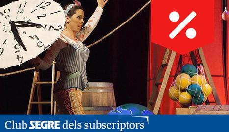 Clara Dalmau, Jordi Hervàs i Laura Hervàs com a veu d'en Bernardo, són els intèrprets d'aquest espectacle d'actors i titelles.