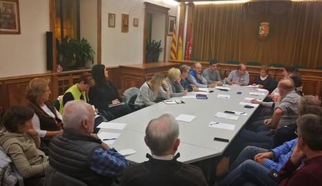 Imatge de la primera sessió del Conselh d'aquesta legislatura.
