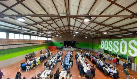 Més de 400 persones en el dinar de l'Era Mongetada a Bossòst.