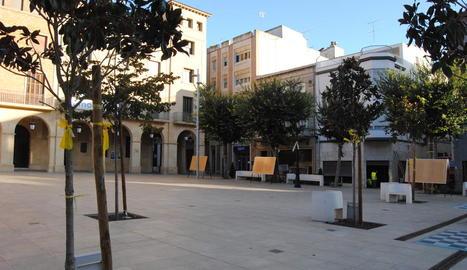 La plaça de l'Ajuntament de Mollerussa on s'ubicarà la Store.