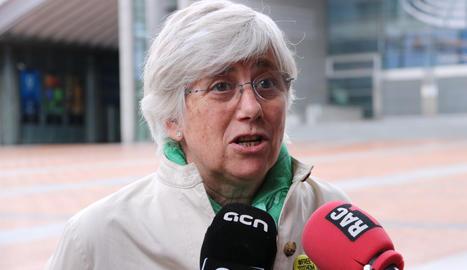 L'exconsellera Clara Ponsatí.