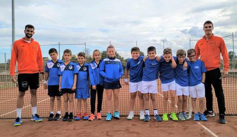 El CN Lleida, nou campió de grup a la Lliga benjamina de tenis