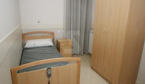 Una habitació d'una residència de Lleida.