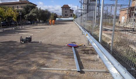 El nou pàrquing gratuït de Cervera, que obrirà demà.