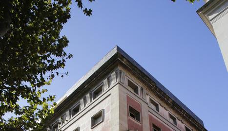 Vista de l'edifici de l'antiga Audiència.