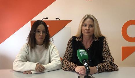 Cristina Daza i Maria Burrel, candidates de Cs al Senat i Congrés.