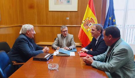 Ros, Morán i Crespín, a la reunió mantinguda ahir a Madrid.