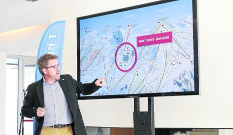 Ubeira durant la presentació de la temporada, que va tenir lloc ahir a Lleida ciutat.