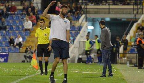 Molo, en un expressiu gest durant el partit de diumenge passat al camp de l'Hèrcules.