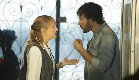 A la imatge, Blanca Portillo i Daniel Grao, en una escena de la sèrie.