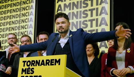 Jaume Asens, cap de llista d'En Comú Podem a Barcelona, ahir.