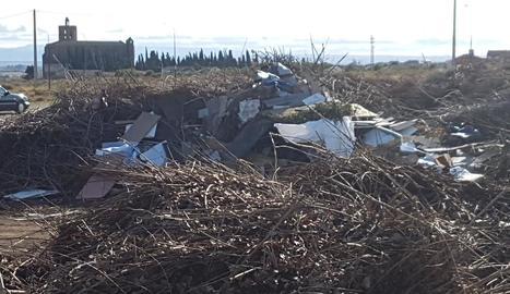 Els residus que han aparegut al Pla d'Almatà de Balaguer.