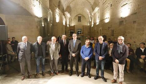 La Sala Gran de la Canonja de la Seu Vella va acollir ahir l'acte de commemoració de la caiguda de Lleida.
