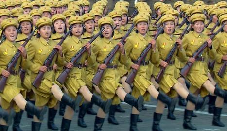 Imatge de propaganda que utilitza l'Exèrcit nord-coreà.
