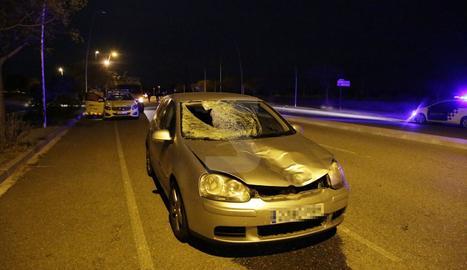 Estat en el qual va quedar el vehicle després de l'atropellament del vianant.